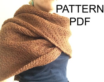 NEW PATTERN - Cavendish Wrap - Shawl - Cowl - Knitting Pattern PDF