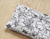 Lavender Eye Pillow - Relaxation Gift - Yoga Meditation - Black White Floral