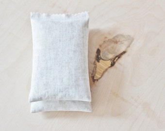 Lavender Filled Drawer Sachets, Natural Rustic Cream & Grey