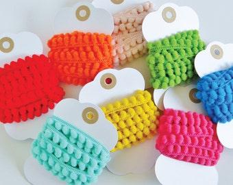 Mini Pom Pom Trim  //  2 yards  //  You pick color  //  Wild Berry, Butterscotch, Bubble Gum, Tangerine