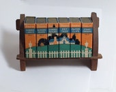 Vintage Dennison's Office Supply Miniature Book Shelf
