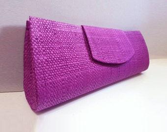 Clutch Purse, Purple Purse, Raffia Bag, Vegan Bag, Handbag, Fair Trade, Brazil, Bridesmaid, Eco-Friendly, Clutch Bag, Free Shipping, SEL-008
