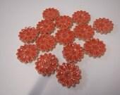 Tangerine Mosaic Flower TilesMosaic Flower tiles