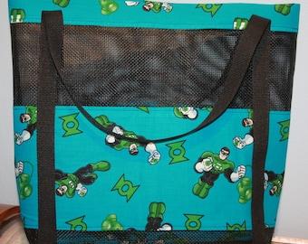 Green Lantern Mesh Tote Bag