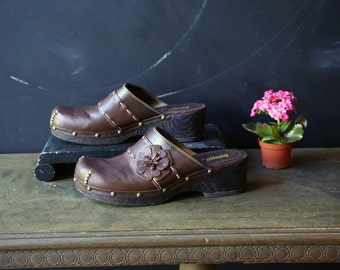Leather Clogs or Muels Womens Size 8.5 US Vintage From Nowvintage on Etsy