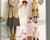 Simplicity 1080 Pattern, dottie angel  Dress & Tunic , Size XS to XL