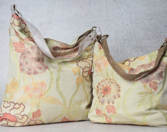 floral bag, floral purse, floral handbag, shoulder bags for women, canvas hobo bag purse, large hobo bag, oversized bag