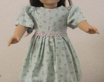 Rosebud Dress 18-inch doll clothes