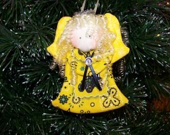John Deere- fabric angel ornament #7