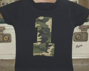 CAMO 1 party shirt ... boys 1st birthday