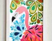 Francine Flamingo - 8x10 Fine Art Print by Megan Jewel