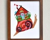Snail House - 8x10 Fine Art Print by Megan Jewel