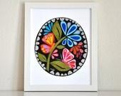 "Butterflies & Blooms 8x10"" Print - Midnight Garden Collection by Megan Jewel Designs"