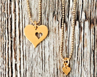 A Piece of My Heart Gold Necklace Set, Birth Mother Gift, Birth parent gift set, Mother Daughter Necklace, Necklace Set
