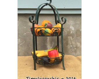 Basket - Fruit Basket - Plant Stand - Tiered Stand - Kitchen Decor - Coffee Bar Basket - Bathroom Decor - CHIC