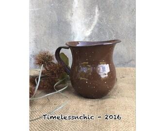 Enamelware - Enamel Mugs - Creamer - Enamel Creamer - Enamel Cup - Vase - Farmhouse Kitchen -CHIC