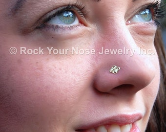 Indian Nose Stud / Filligree Nose Stud in Solid Gold - CUSTOMIZE