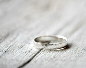 Sterling Silver Band Ring, Custom Personalized Stamping inside available