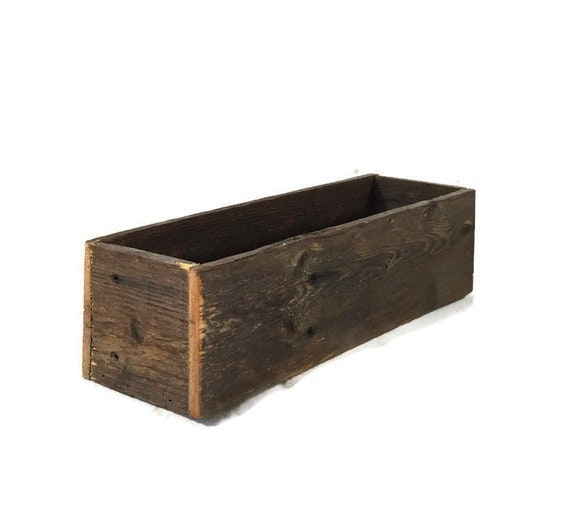 Rustic Wooden Centerpiece Boxes : Reclaimed wood box rustic centerpiece boxes wedding decor