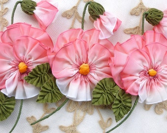 Pink French Ombre Ribbon Pansy