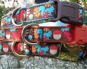 Squirrel Dog Collar, Choice of Webbing & Buckle, Sizes M, L, XL