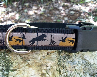 Wolf and Geese Dog Collar, In M, L, XL