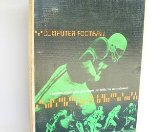 Vintage Football Early Computer Circuit Game Sports Fun Collectible Complete Working Condition Football Fan Gift