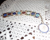 Vintage Bracelet Colorful With Lots of repeated Symbols Small for Young Women
