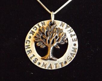 Custom Kids names necklace, Family Tree name necklace, Gifts for mom, Mom name necklace, gifts for Grandma, Grandkids names necklace