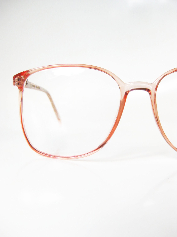pastel pink eyeglasses 1980s womens wayfarer glasses