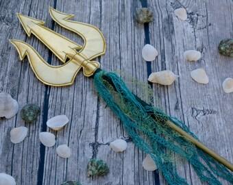Prop Trident Costume Mermaid Poseidon Spear