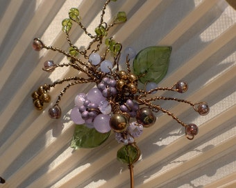A Sprig of Bronze and Lilac