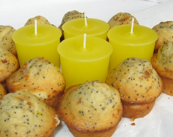 LEMON POPPYSEED MUFFINS (4 votives or 4-oz soy jar candles)