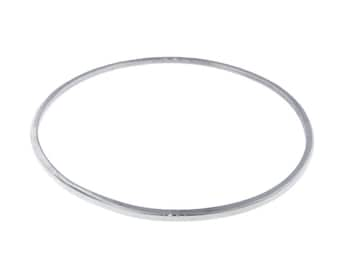 Handmade Sterling Silver Bangle Bracelet Custom Closed Accent Fine Jewelry Fashion Accessory Solid Sturdy