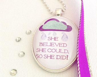 inspirational quote necklace, positive quote jewelry, empowering quote necklace