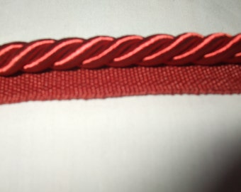 Cranberry 5 1/16ths Decorative Welt Cord with Lip
