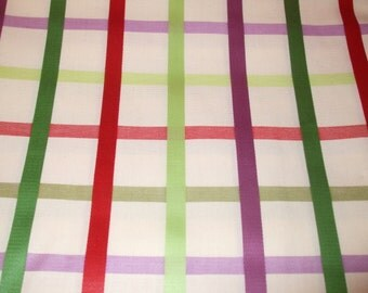 Cotton Blend Drapery Lightweight Fabric Multi Color Plaid