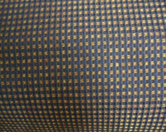 Nylon Navy Blue and Gold Upholstery Fabric