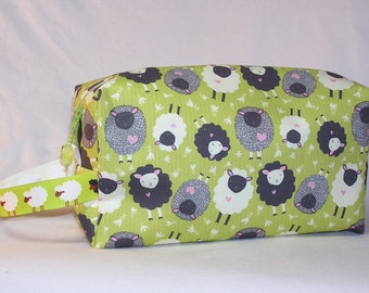 PREORDER Itsy Bitsy Ditsy Sheep Project Bag - Premium Fabric