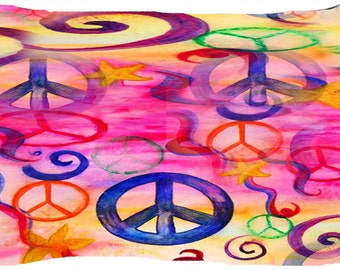 Peace art dog or cat bed from my art