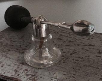 Antique perfume bottle, Singer Antique atomizer, opera singer voice refresher, atomizer,