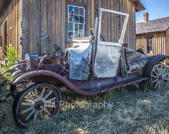 Jalopy - Vintage Car - Old Car - Antique Car - Antique Automobile - Rusty - Rusty Old Car - Fine Art Photography