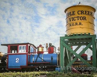 Narrow Gauge Train - Train - Steam Engine - Cripple Creek - Colorado - Railroad - Fine Art Photography