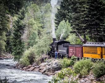 Durango Silverton Narrow Gauge Railroad - Train - Steam Engine - Narrow Gauge - Animas River - Scenic Train Ride - Fine Art Photography