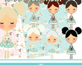 Birthday Girl cliparts - Commercial use OK