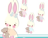 Baby Bunny 1 cliparts -COMMERCIAL USE OK