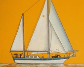 174 Sailing - folded art card 15x15cm/6x6inch with envelope