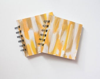 Blank 4 x 4 Mini Sketchbook - Gold Sunsets