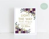 PRINTABLE Custom Wedding Send Off Sign // Let Love Sparkle // Sparkler Send Off // Light the way Sparkler Sign // Fall Wedding // DIGITAL