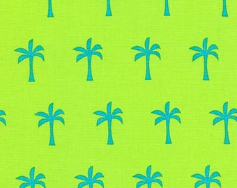 Ann Kelle Sea and Sun Palm Trees Pacific Robert Kaufman Fabric, Choose your cut